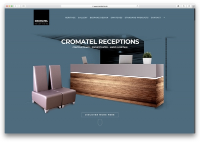 Cromatel Website Design Layout