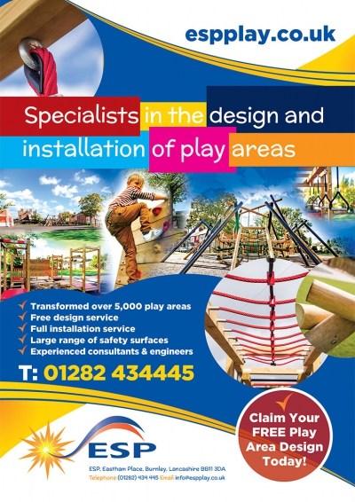 ESP Play Leaflet Cover Design