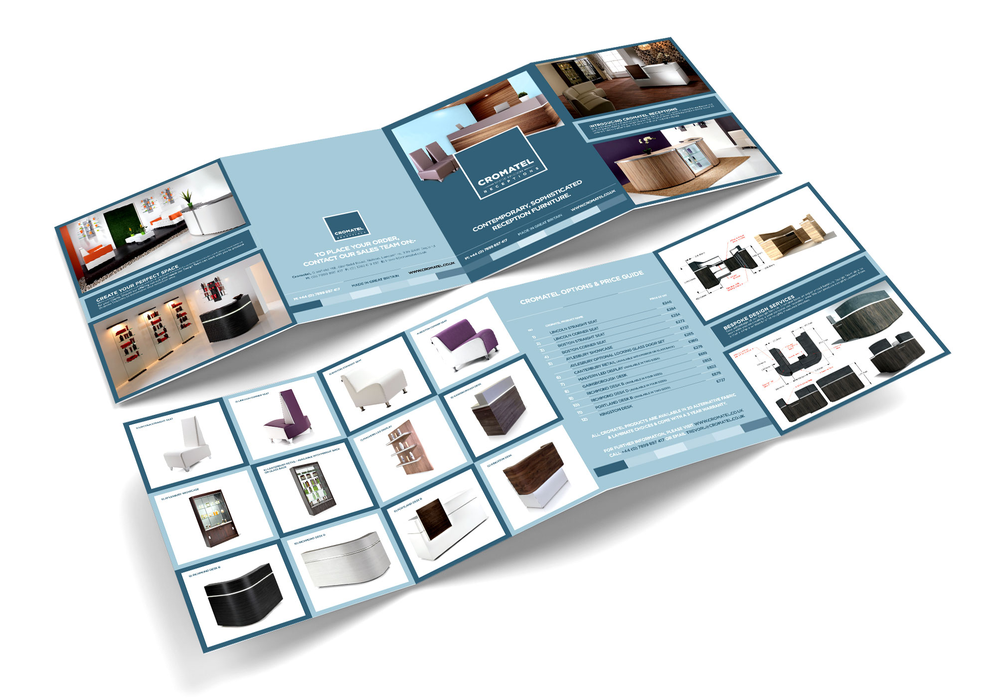 Cromatel Leaflet Design Layout