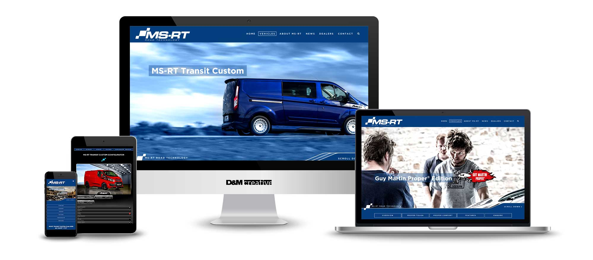 MSRT Website Design Screens, Mobile, Desktop, Tablet