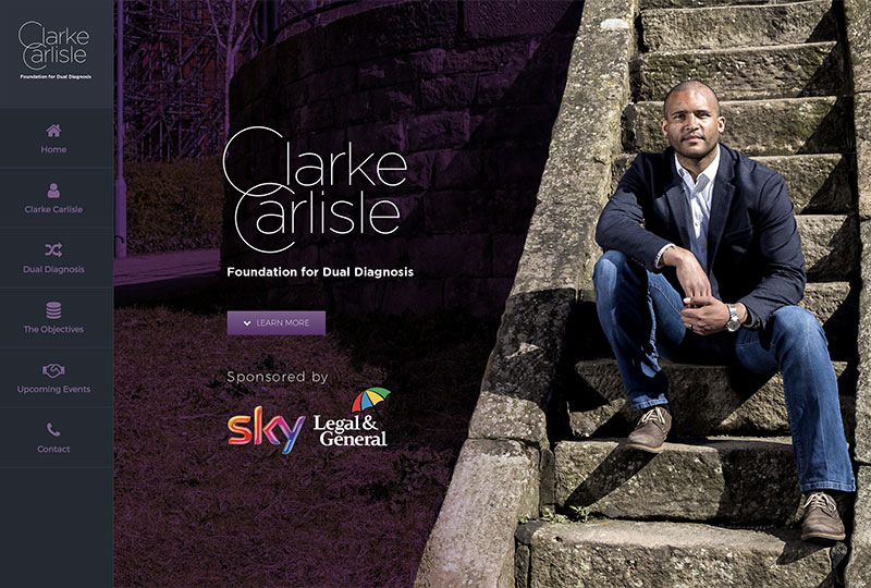 Clarke Carlisle Foundation For Dual Diagnosis Website