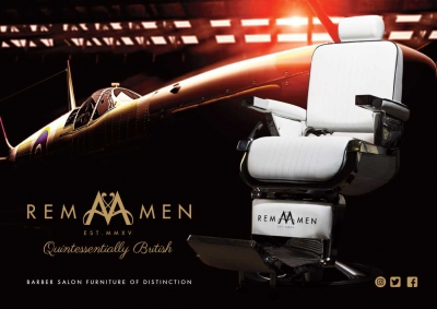 REM Men Advertising Concept Aircraft Hanger