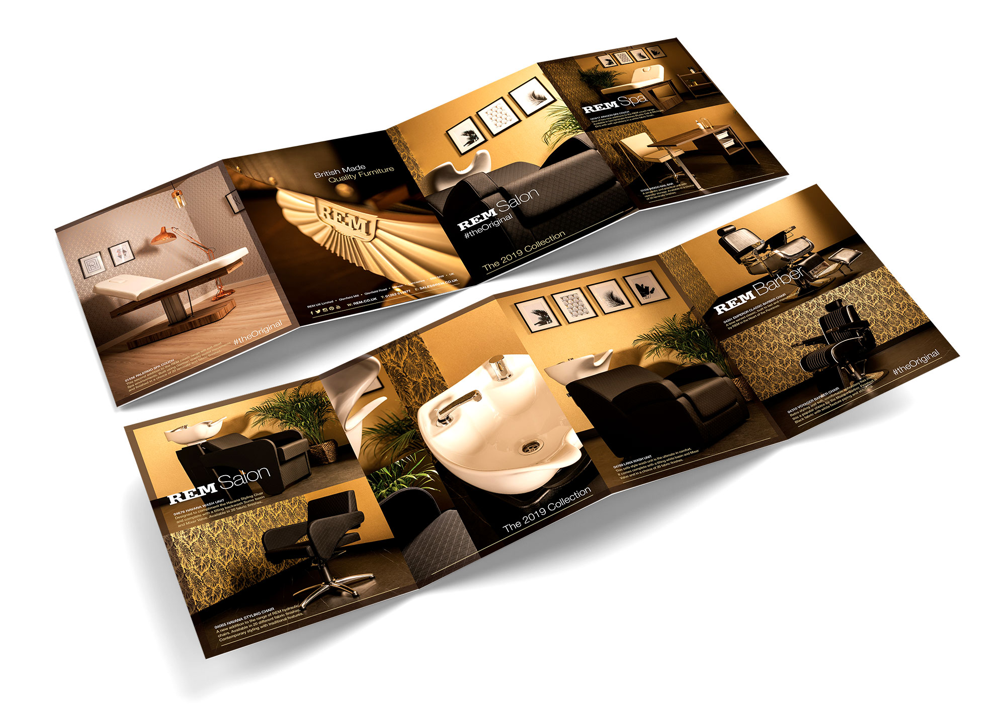 REM 8 Page Gatefold Brochure Design