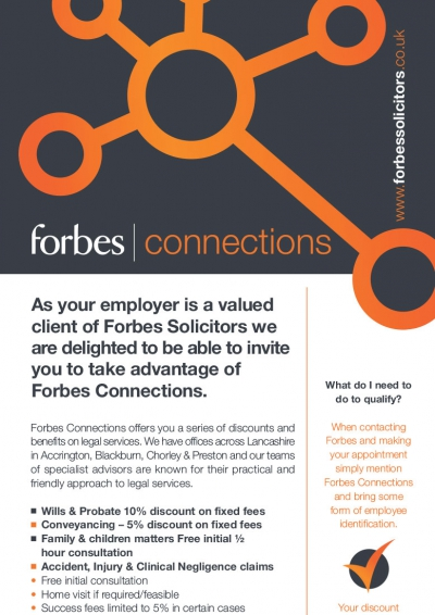 Forbes Solicitors Connections Brand Identity