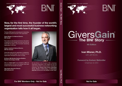 BNI Givers Gain Book Cover 2017