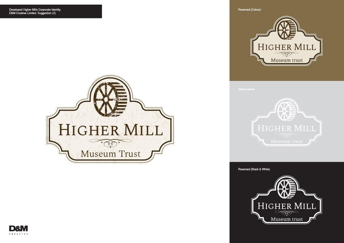 Higher Mills Corporate Identity Logo