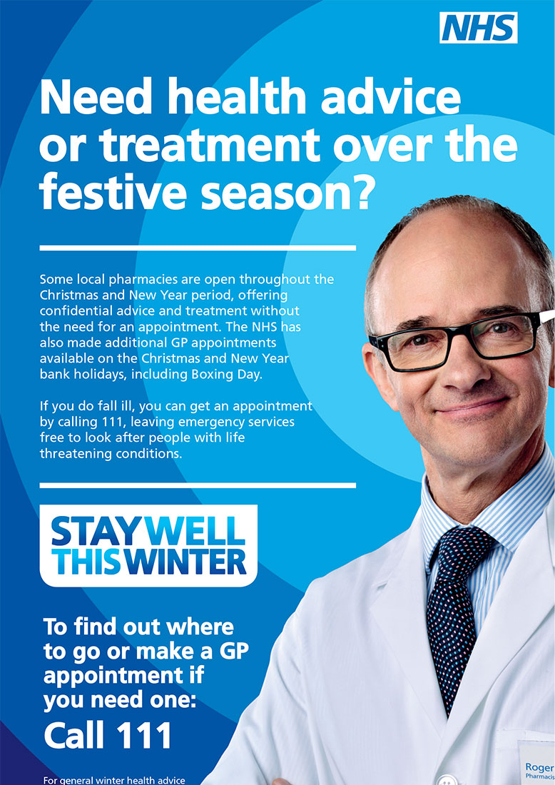NHS Stay Well This Winter Advertising Campaign