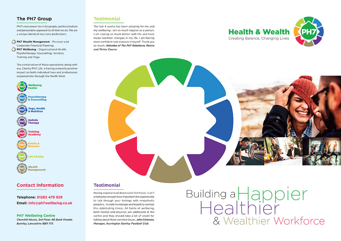 PH7 Brochure Graphic Design