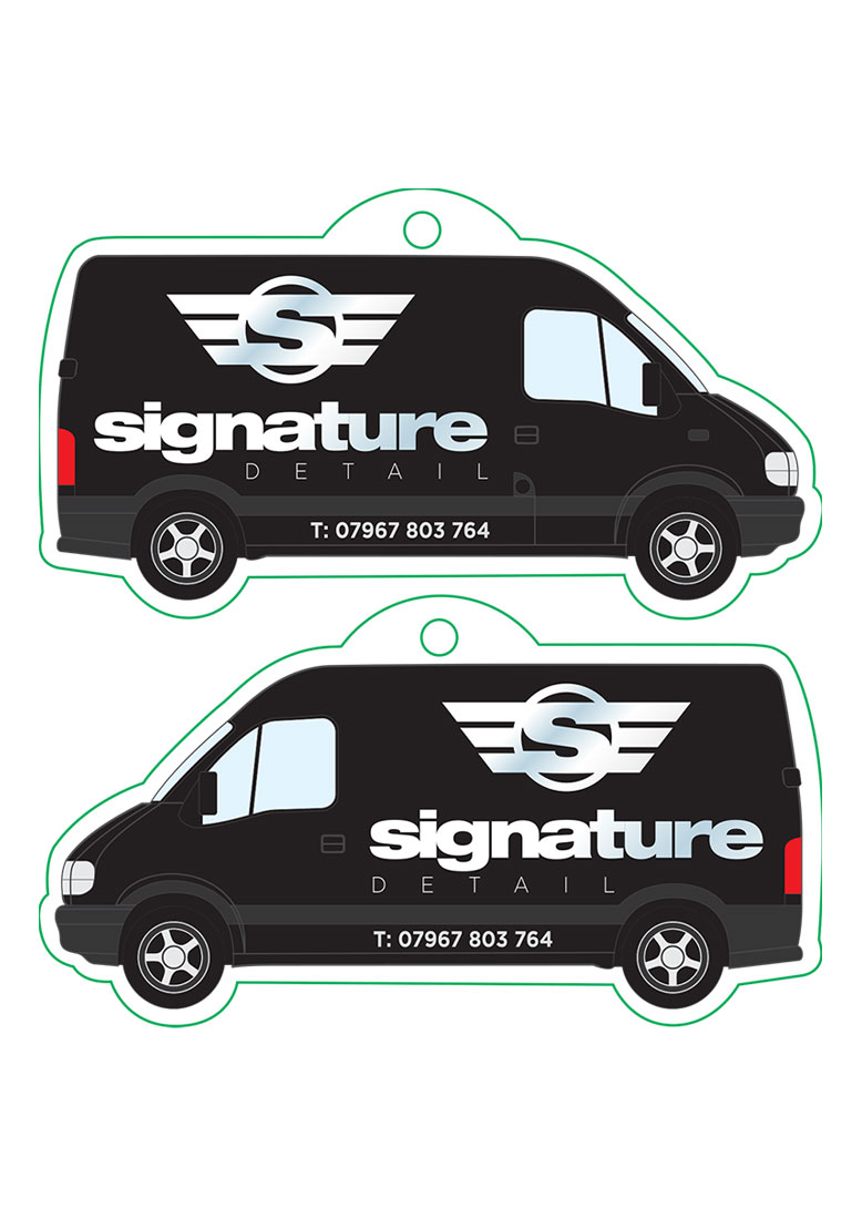 Signature Detail Car Freshener Artwork