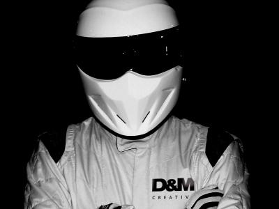 Damian Greenwood revealed as the STIG of D&M Creative